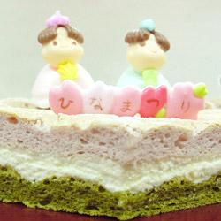 三色お雛ケーキ